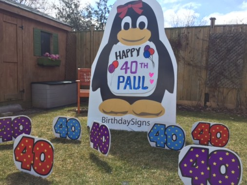 Penguin with 40th