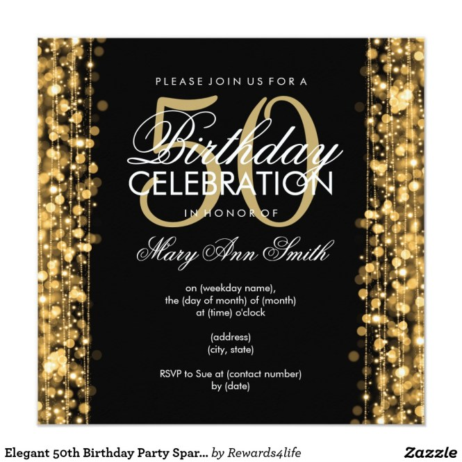 Invitation For 50th Birthday Party