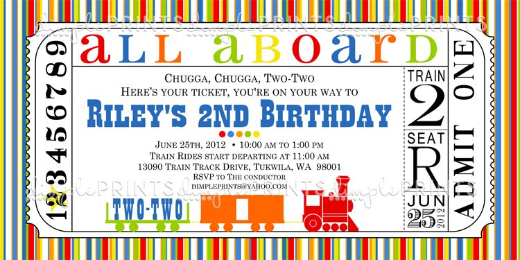 9 Train Birthday Invitations For Kid – Free Printable