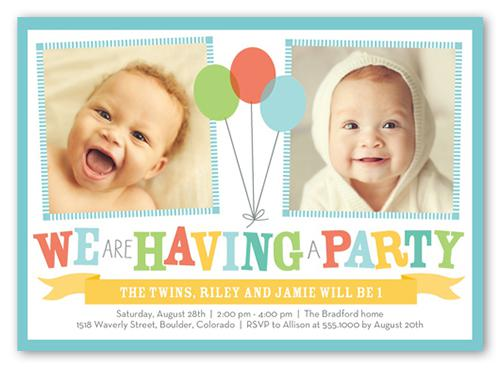 12 Twin Birthday Invitations Templates – Free Sample