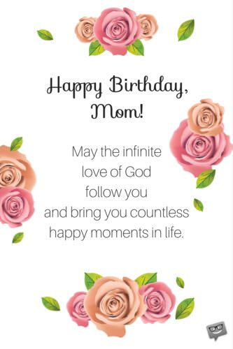 Religious Birthday Wishes For Mother In Law : religious, birthday, wishes, mother, Birthday, Prayers, Mothers, Bless