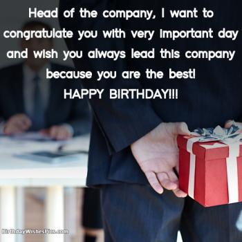 Best Ever Birthday Wishes For Boss With Images