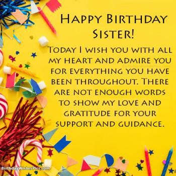 Happy Birthday Wishes For Sister With Birthday Images