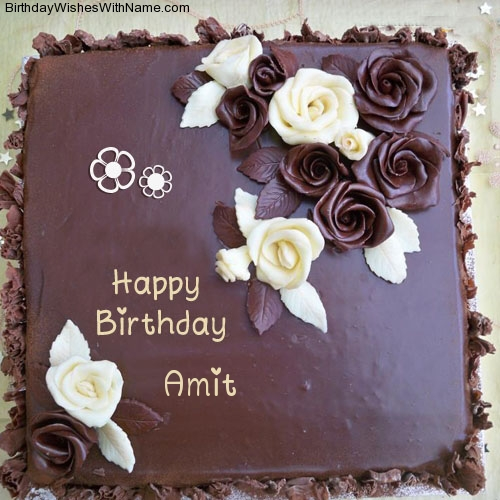 Birthday Cake Image With Name Amit Impremedia Net