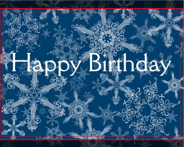 Winter Birthday Wishes