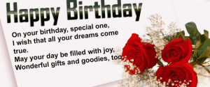 50 Birthday Wishes For Someone Special