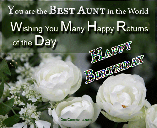 Best Birthday Wishes For Aunty