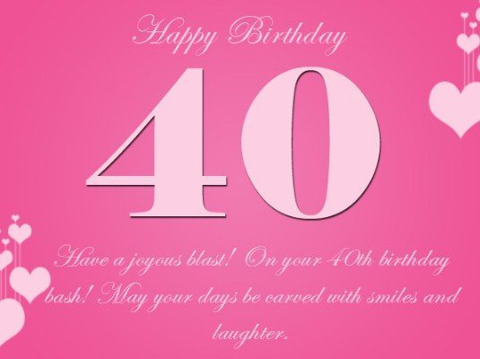 Latest 40th birthday wishes happy 40th birthday wishes and 40th birthday wishes bookmarktalkfo Choice Image