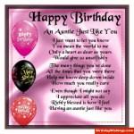 Happy Birthday To Auntie