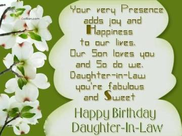 Birthday Poems For Daughter-in-Law