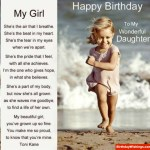 Wonderful Daughter Birthday Poem