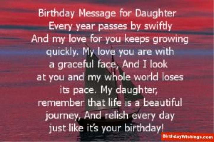 Daughter's Birthday Message