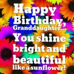 Grand Daughter Birthday Wishes