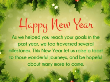 New Year's Wishes for Business Partners
