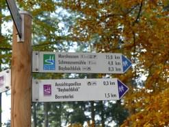 Baybachklamm Wegweiser Traumschleife, Wanderung 1.11.15, B+M 2015-11-01 003