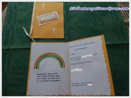 Kommunion Einladungskarte