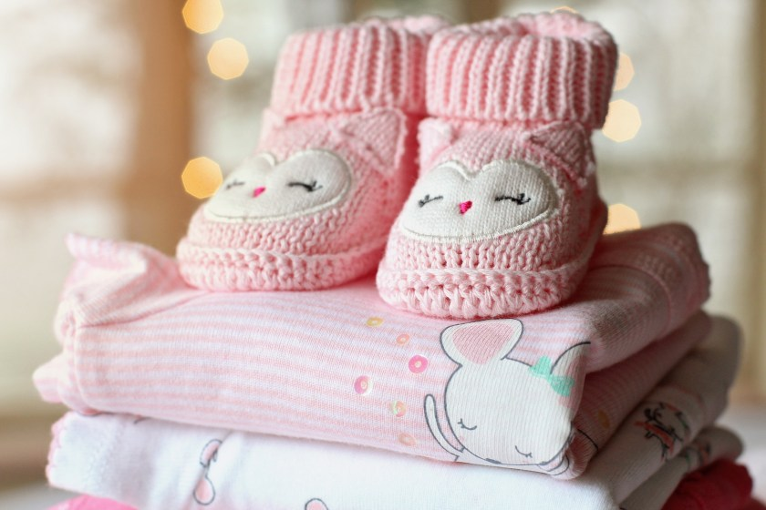 Pinks baby knitted shoes