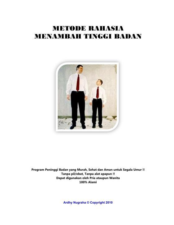 cover Ebook Metode Rahasia Penambah Tinggi Badan