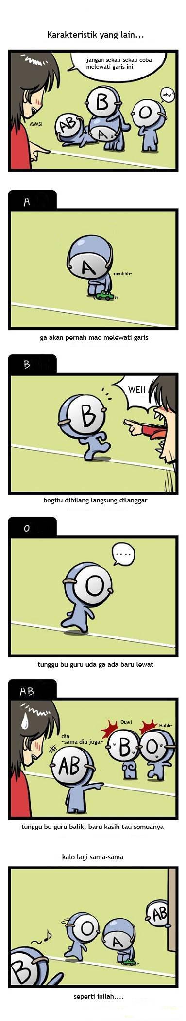 komik golongan darah 8