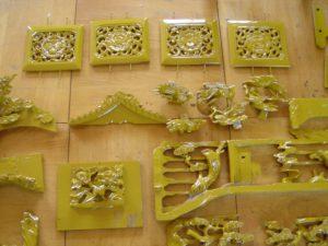 仏壇の洗濯(クリーニング)塗りの写真 彫り物