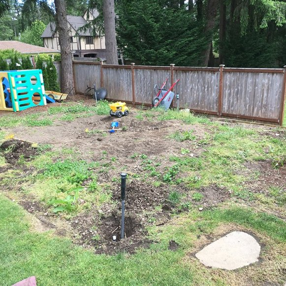 Before (sod job)