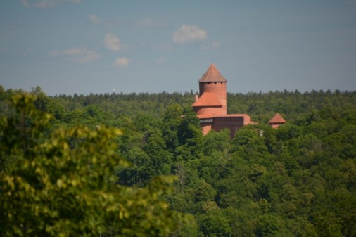A castle in the Gauja National Park