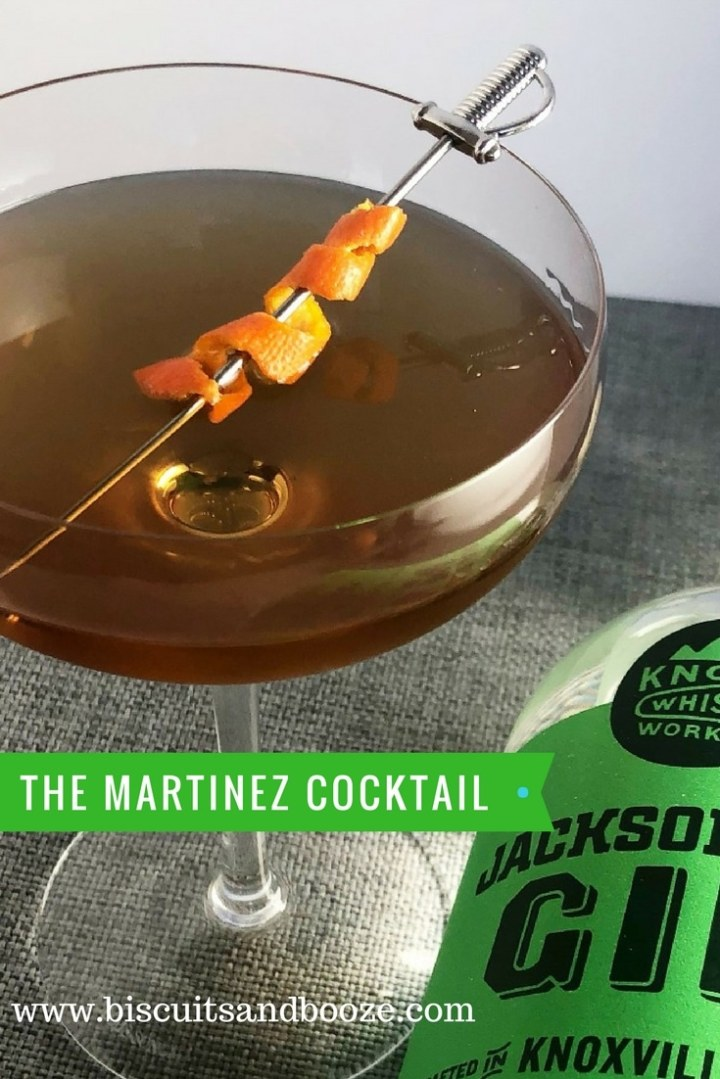 The Martinez Cocktail is a classic gin cocktail, thought to be the precursor to the martini, but resting somewhere between a Manhattan and a Martini.  Its a boozy, complex addition to your happy hour. #gin #gincocktail #martinezcocktail #homebartender #craftcocktail #classiccocktail