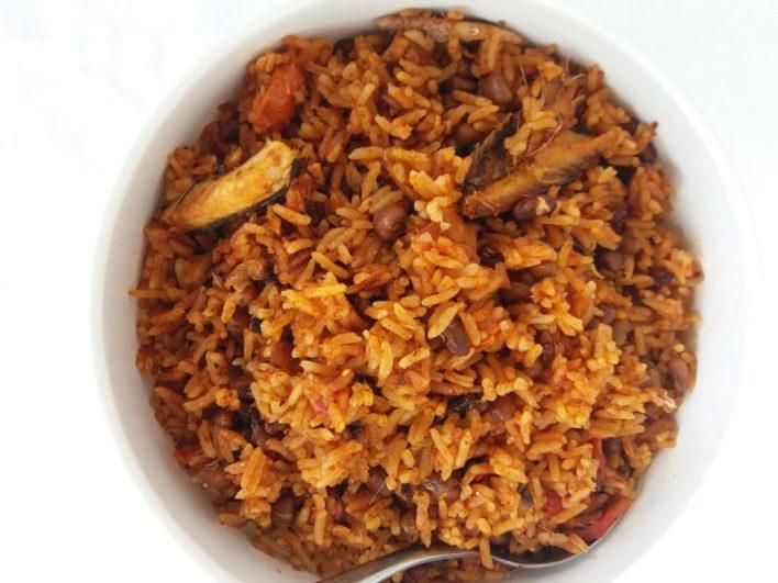 West Africa's one pot wonder rice dish. Herrings and beans jollof beats all jollof on the dinner table.