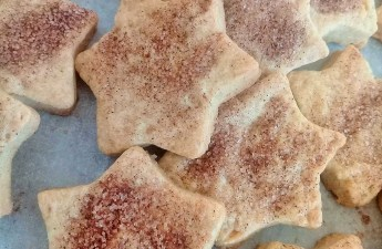 These cinnamon sugar star biscuits are fantastic,