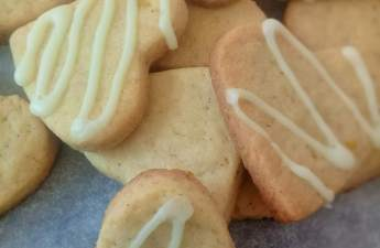Very citrusy and spicy orange cardamom biscuits