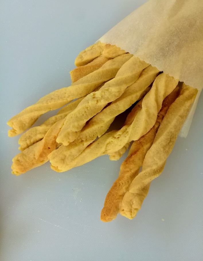 Baked Ghanaian chips AKA pastry chips, flaky with subtle sweetness and flavour from nutmeg.