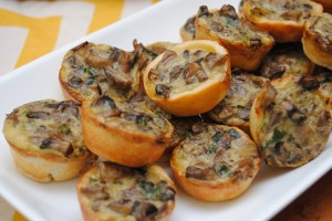 Mushroom onion tartlets