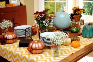 Pumpkin baby shower spread2