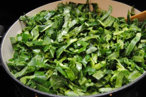Collards uncooked