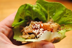 Lettuce Wraps with Asian Pulled Prok