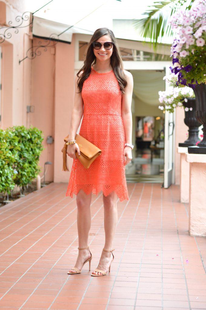 Coral Lace Dress Bishopampholland