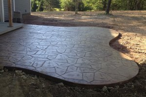 Curved Stamp Patio