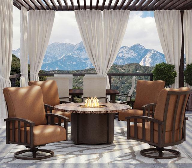 Cast Aluminum Patio Furniture Homecrest Liberty Deep Seating