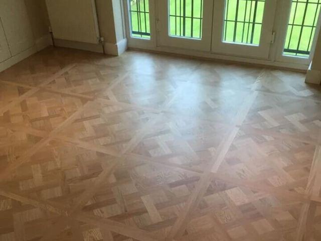 Versailles panels laid in bedroom