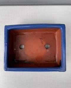 Blue bonsai pot (rectangle)