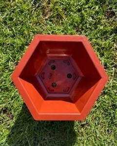 Hexagonal plastic pot 24cm