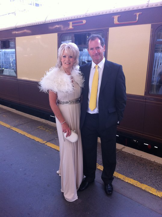 Here I am with the lovely Sherrie Hewson on the platform at Victoria Station, ready to board the Orient Express.