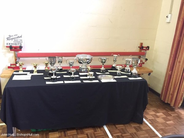 Bishop's Hull Flower Show Trophy Table.