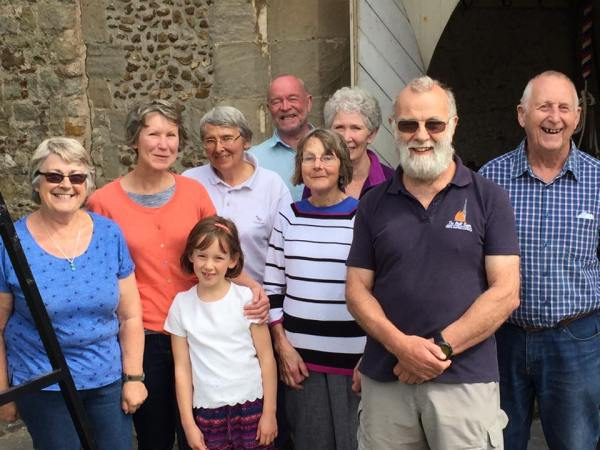 From the left are: Sue, Kate, Martha, Rosemary, Mike, Francis, Carole, Giles and Alan.