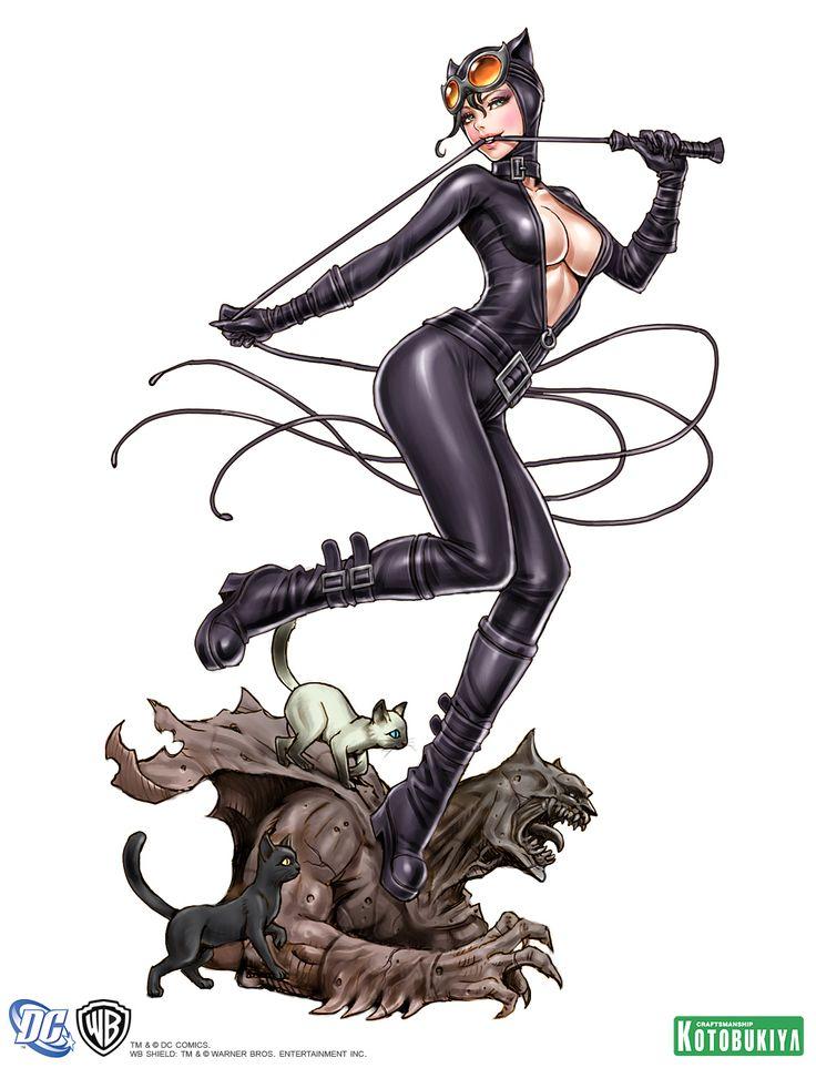 catwoman-bishoujo-statue-illustration-dc-comics-kotobukiya-Shunya-Yamashita