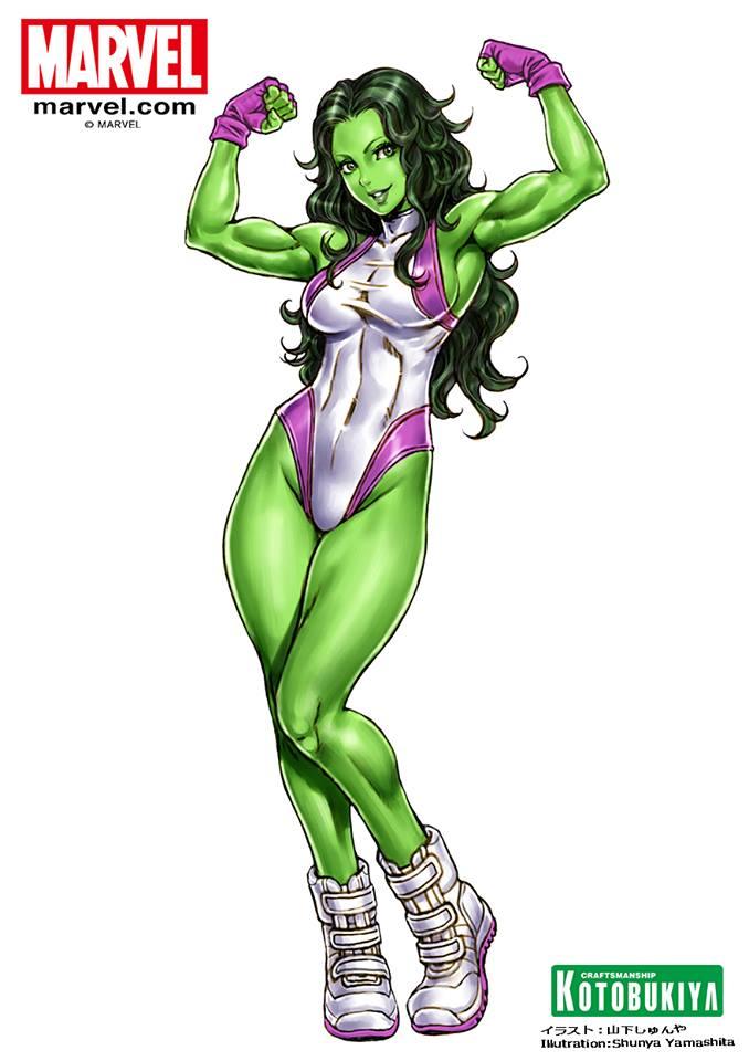 she-hulk-bishoujo-statue-illustration-marvel-kotobukiya-Shunya-Yamashita