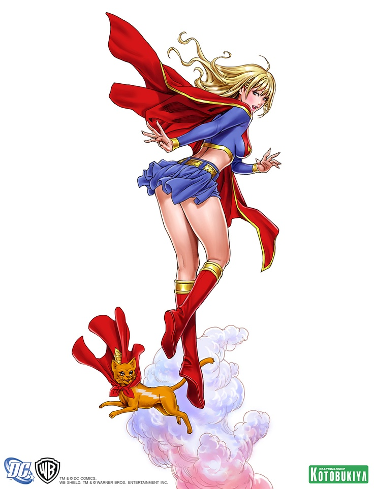 supergirl-bishoujo-statue-illustration-dc-comics-kotobukiya-Shunya-Yamashita