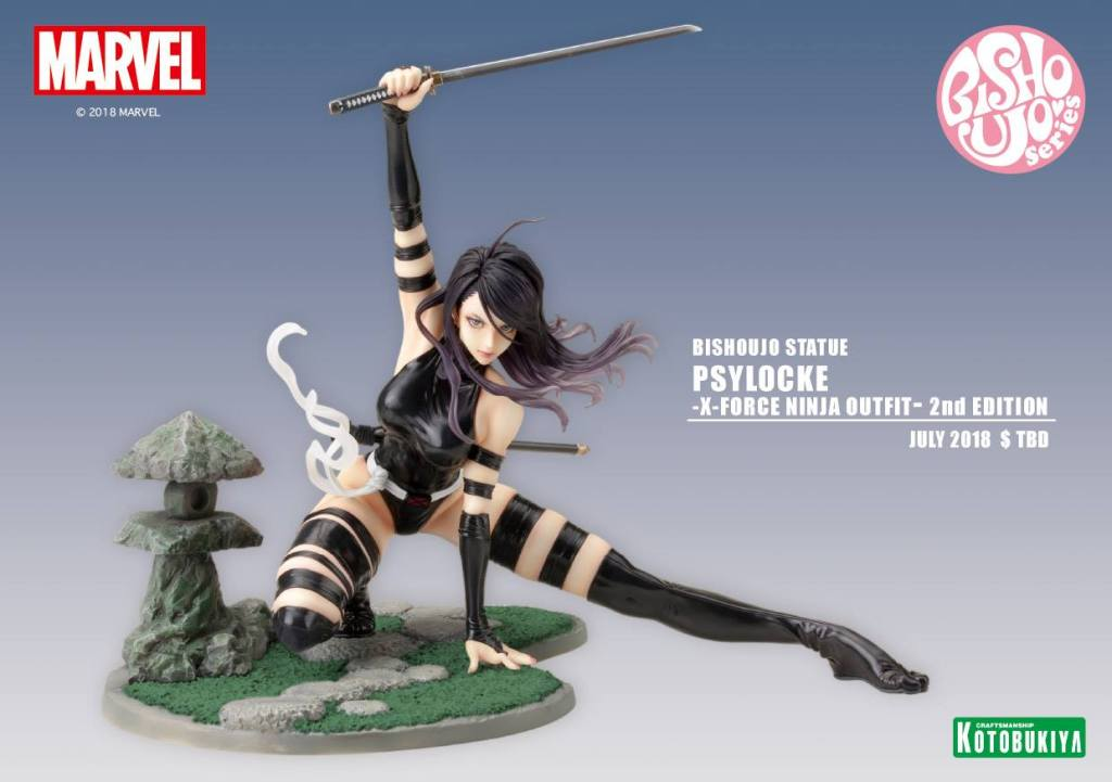 Marvel X-Force Psylocke 2nd Edition Bishoujo Statue Kotobukiya