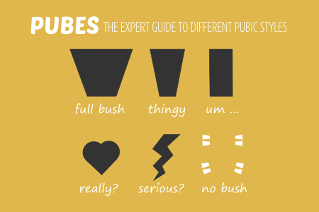 BISH pubic hair expert guide to pube styles