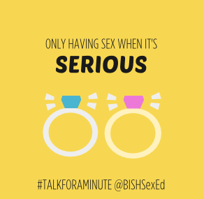 talkforaminute BISH only having sex when it's serious